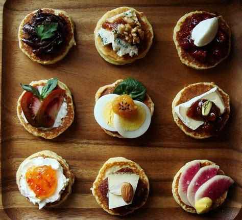canape toppings 47 best images about mini pancakes on butter