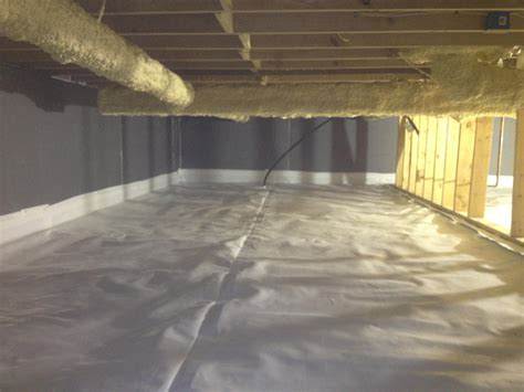 basement wrap insulation new town nd crawl space encapsulation project finished