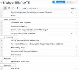 5 Why Template by Ask 5 Whys To Get To The Root Of Any Problem