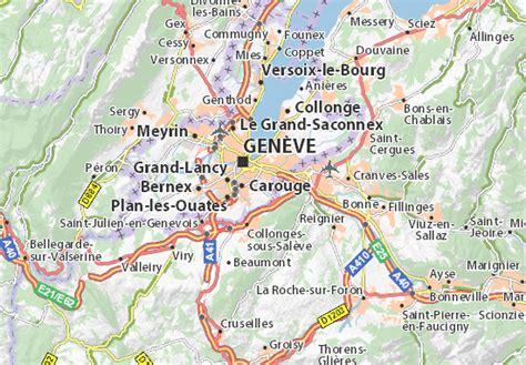 Carte détaillée Vessy   plan Vessy   ViaMichelin