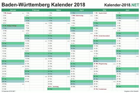 Kalender 2018 Bayern Schulferien Kalender 2018 Baden W 252 Rttemberg