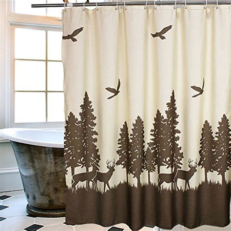 deer shower curtains deer shower curtains kritters in the mailbox deer