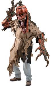 Scary Halloween Costumes For Men Scary Horror Bad Seed Pumpkin Halloween Costume Mens One Size Fit Most Ebay