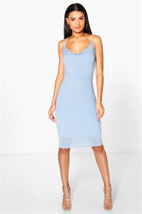 Cowl Midi Dress boohoo womens reeva cowl neck midi dress
