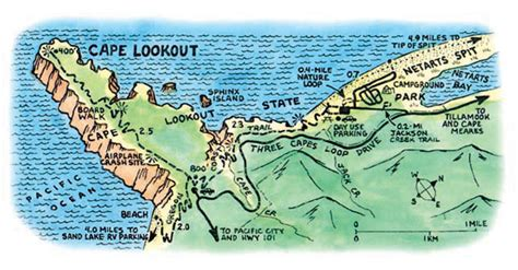 map of oregon lookouts cape lookout state park oregon