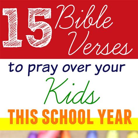printable children s prayers 15 bible verses to pray over your kids this school year