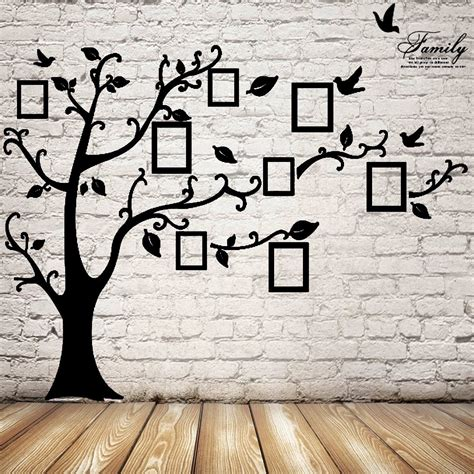 wall sticker wallpaper 2 5m removable memory tree picture frames wallpaper photo
