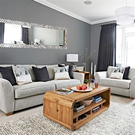 Livingroom Pictures by Chic Grey Living Room With Clean Lines Housetohome Co Uk