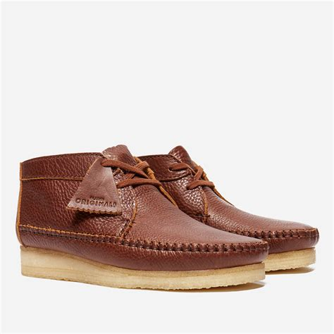 Shoes Clarks Boots Brown lyst clarks weaver boot leather in brown for