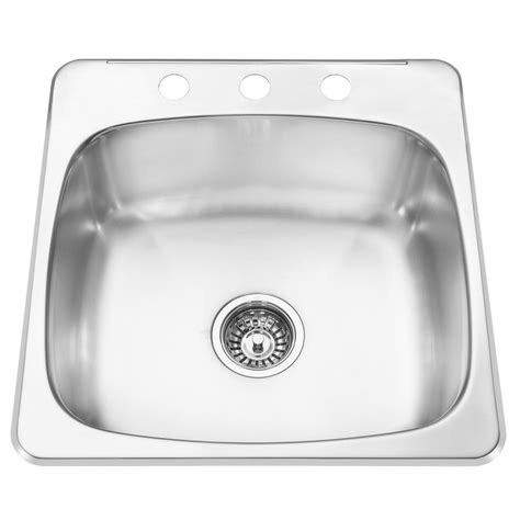 Stainless Steel Kitchen Sinks Canada Stainless Steel Topmount Kitchen Sink 4 Sop1023 In Canada Canadadiscounthardware