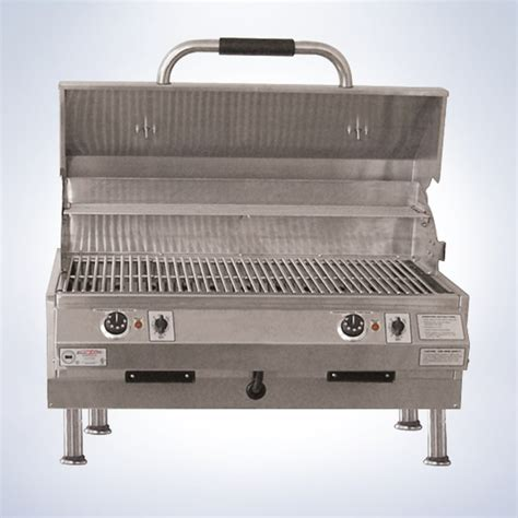 table with grill built in ruby 32 quot tabletop grill with dual temperature