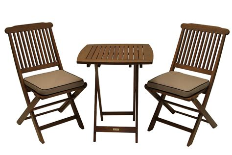 Outdoor Eucalyptus 3 Piece Square Bistro Outdoor Furniture Outdoor Patio Furniture Set