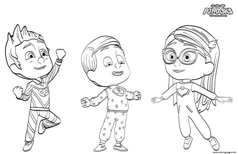 printable coloring pages pj masks pj maskss pajama heroes coloring pages printable