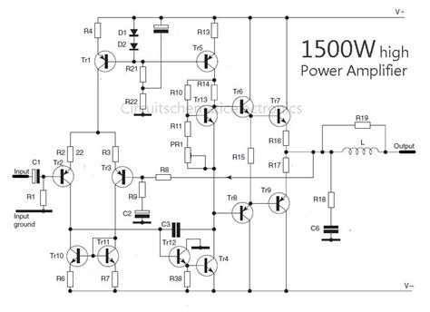 layout lifier ocl 150 watt 1500 watt high power lifier amp circuit diagram
