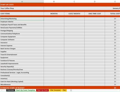 Financial Business Template Excel Business Financial Plan