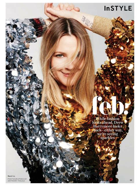 February It Drew Barrymore by Drew Barrymore Instyle Magazine February 2018 Issue