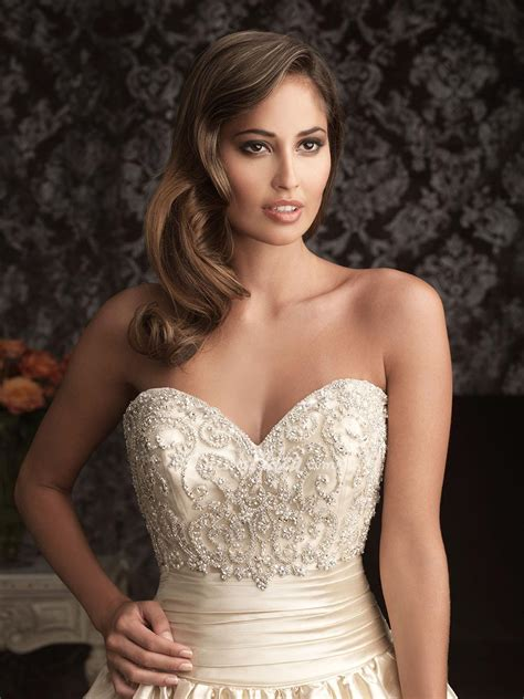 beaded bodice sweetheart embroidered wedding dress with beaded bodice