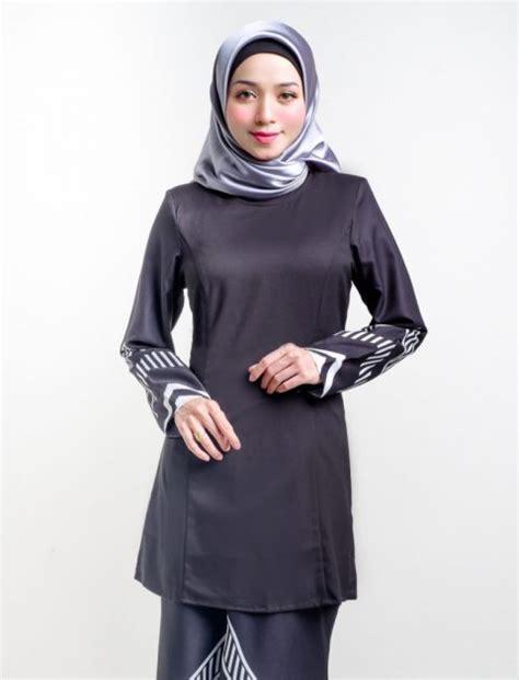 Baju Kurung Hijau Hitam baju kurung moden raakel hitam lovelysuri