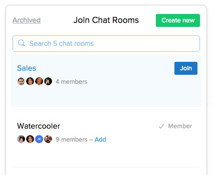 join the chat room flow joining chat rooms