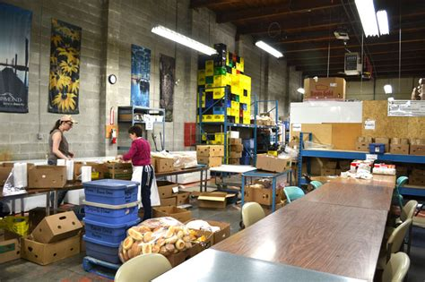 a day volunteering at the richmond food bank