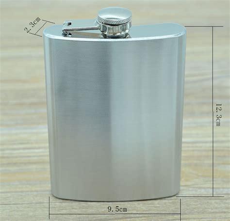 Botol Minum Wine Bir Flask Hip Shape Stainless Steel 5oz botol minum wine bentuk kotak 8oz silver jakartanotebook