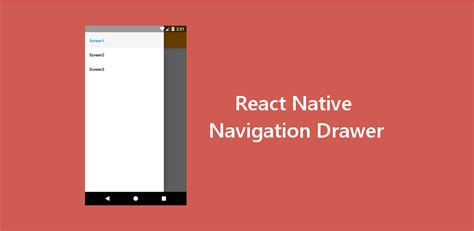 react native navigation drawer  latest navigation