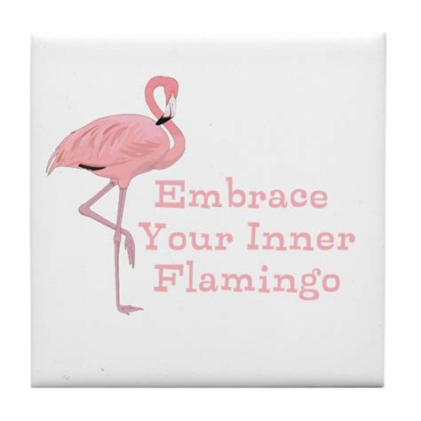 Wall Sayings Stickers funny embrace your inner flamingo quote tile coast by