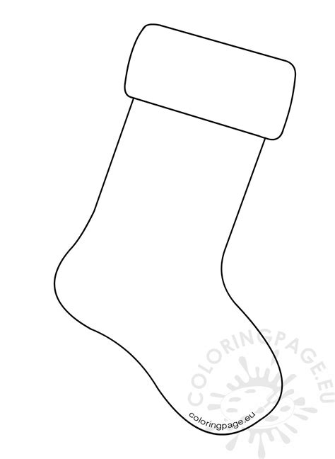 christmas stocking coloring page template christmas stocking coloring pages