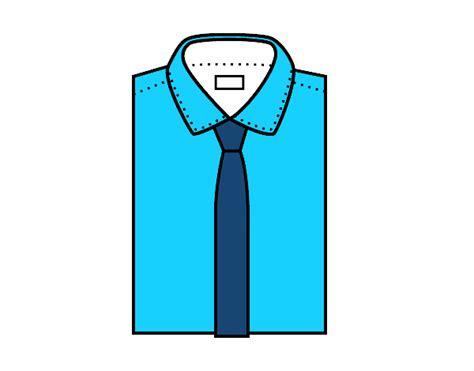 camisa y corbata para colorear dibujo de camisa con corbata pintado por en dibujos net el