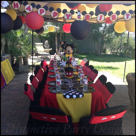 Kids Party Table Styled For Mickey Mouse Inspired Birthday Mickey Mouse Table