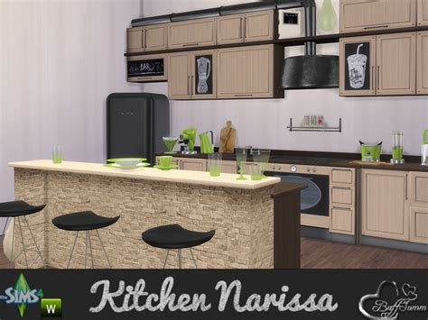 How To Install Kitchen Island Cabinets the sims 4 custom content kitchen narissa set sims