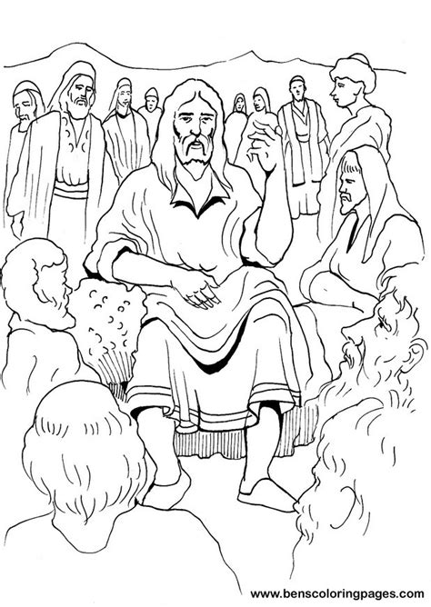 coloring page jesus preaching free coloring pages of bible preaching