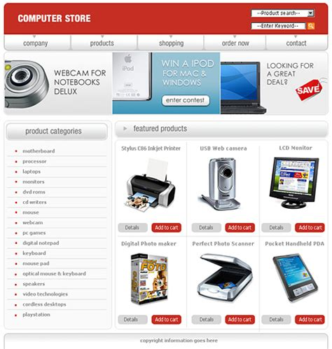 free store html templates 0442 shopping website templates dreamtemplate