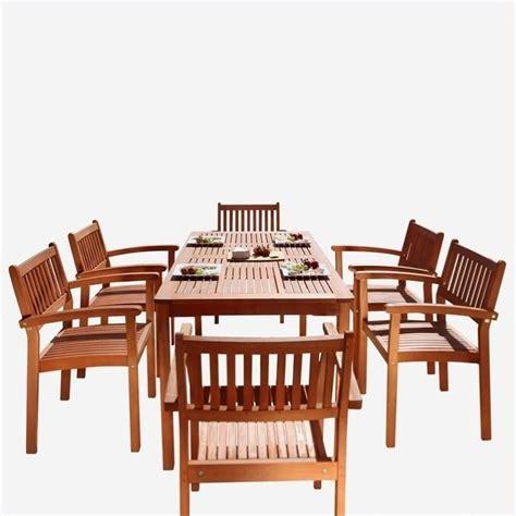 7 wood patio dining set v98set10