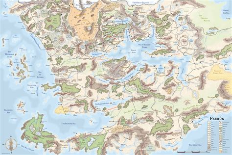 map of faerun map of all faerun