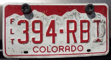 Vanity Plates Colorado by Colorado Tpr License Plate