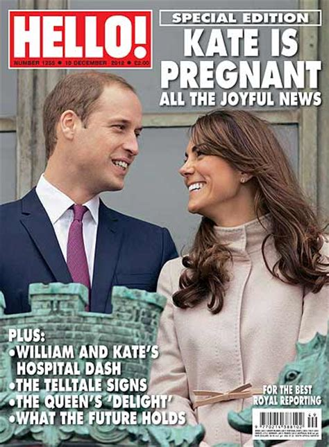 william and kate news kate middleton pregnant hello magazine releases new