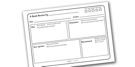 book template ks1 twinkl resources gt gt book review writing template