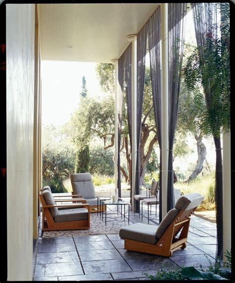 patio at montecito villa featuring cascade coil wire mesh