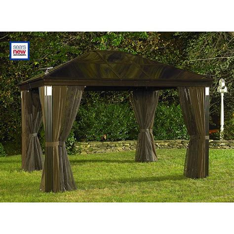 10 x 14 gazebo grand resort 999 2141696 10 ft x 14 ft lighted