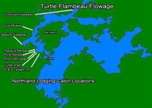 Lake Cabin Decor Turtle Flambeau Flowage Lake Map Quotes