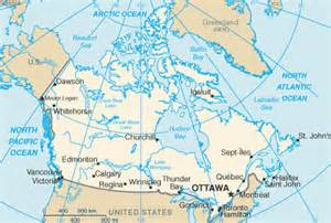 capital of canada on map where is the capital of canada on a map