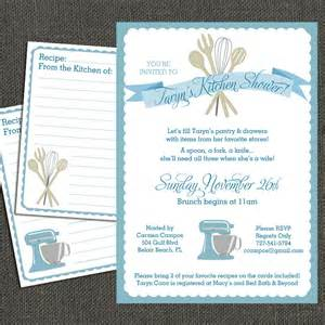 bridal kitchen shower invitation and by michelepurnerdesigns