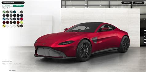 create your aston martin vantage with new configurator