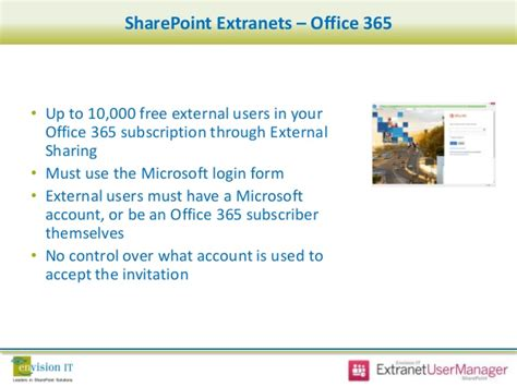sharepoint server 2013 extranet and office 365 external envision it webinar extranet identity management and