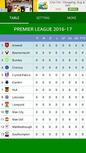 epl table google download premier league table 2016 17 google play