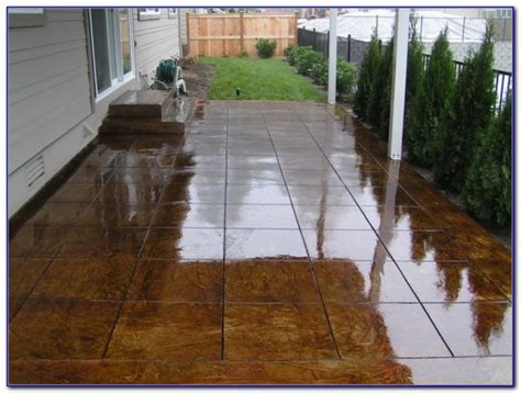 staining concrete patio diy patios home design ideas