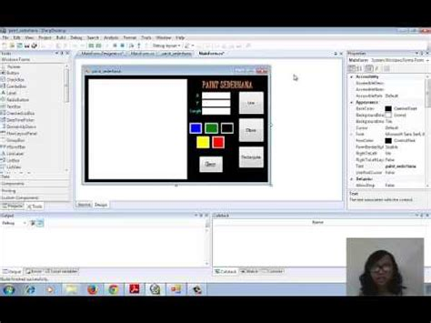 aplikasi membuat video clip tutorial membuat aplikasi paint sederhana c doovi