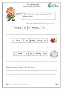 the birthday party year 1 2 english worksheet for key