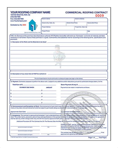 roofing contract template roofing estimate template 10 free word excel pdf